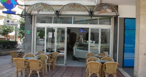 Gut eingefhrtes Eiscaf in Palma