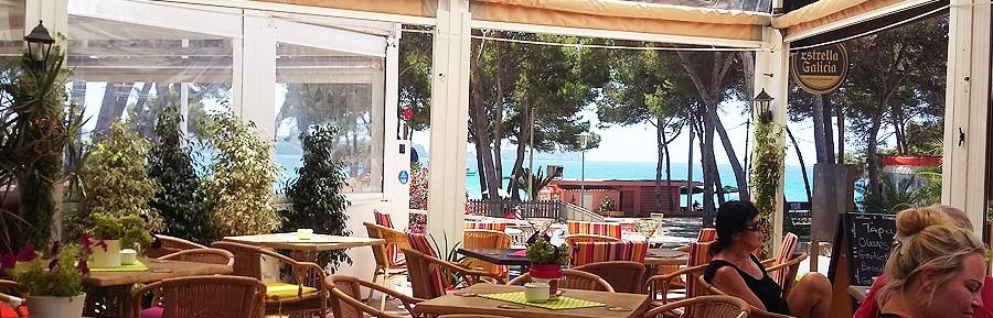 Café Bar Kneipe in Bestlage am Strand von Paguera auf Mallorca zu übergeben
