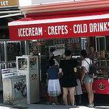 Gut gehendes Eiscreme Take Away Geschäft zu übergeben in Santa Ponsa auf Mallorca, direkt an Strandstraße